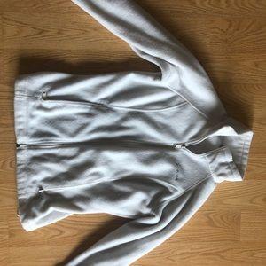 Columbia White Fleece Zip Up Size Small